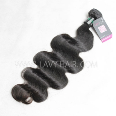 12-40 inch Superior Grade 1 bundle body wave Virgin Human hair extensions Brazilian Peruvian Malaysian Indian European Cambodian Burmese Mongolian