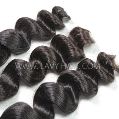 Superior Grade 1 bundle Brazilian loose wave Virgin Human hair extensions