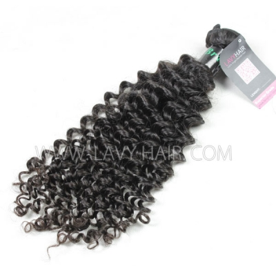 Superior Grade 1 bundle Brazilian Deep Curly Virgin Human hair extensions