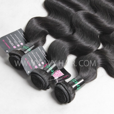 "Superior Grade mix 4 bundles with silk base closure 4*4"" Brazilian Body wave Virgin Human hair extensions"