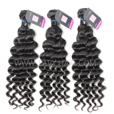 Superior Grade mix 3 or 4 bundles Peruvian Deep wave Virgin Human Hair Extensions