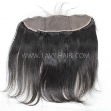 Ear to ear 13*4 Lace Frontal Closure Straight Hair Human hair medium brown Swiss lace