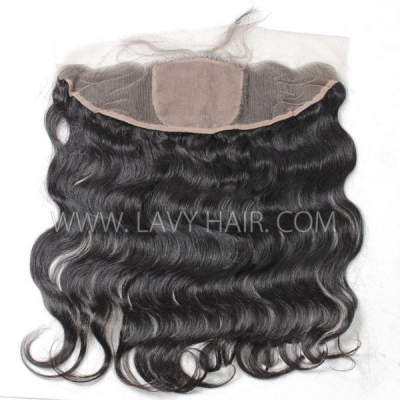 Silk Base Frontal (13*4) body Wave Human medium brown