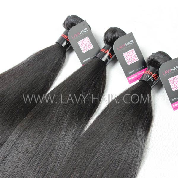 Superior Grade mix 3 or 4 bundles Cambodian Straight Virgin Human hair extensions