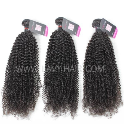 Superior Grade mix 3 or 4 bundles Cambodian Kinky Curly Virgin Human hair extensions