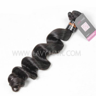 Superior Grade 1 bundle Indian Loose Wave Virgin Human Hair Extensions