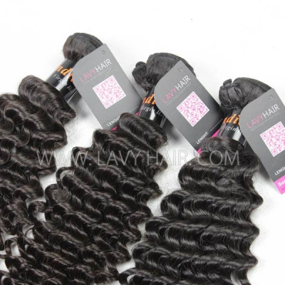 Superior Grade 1 bundle Indian Deep Curly Virgin Human hair extensions