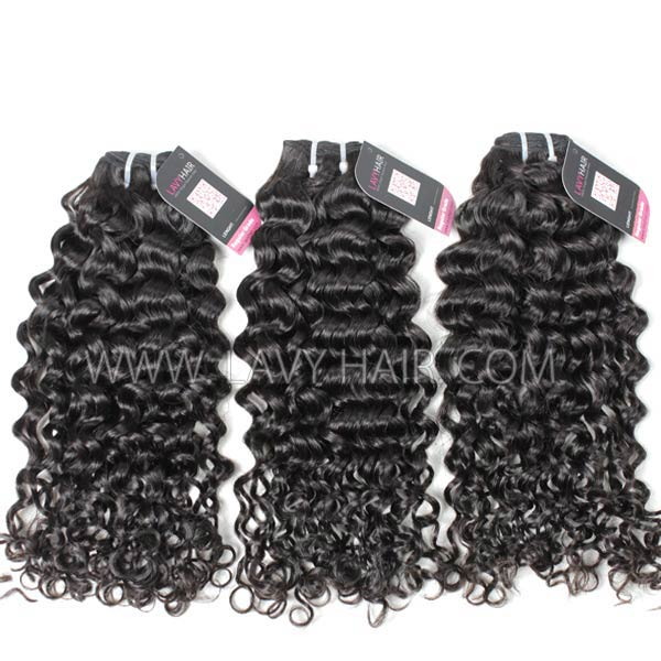 Superior Grade mix 3 or 4 bundles Indian Italian Curly Virgin Human Hair Extensions