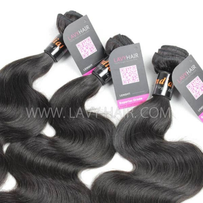 "Superior Grade mix 4 bundles with silk base closure 4*4"" Indian Body wave Virgin Human hair extensions"