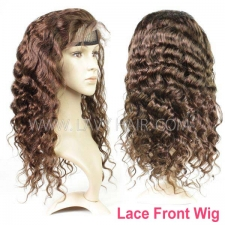 4# Lace Frontal Wigs 130% Density Loose Wave Human Hair