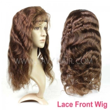 4# 100% Human hair lace front wigs 130% density body wave