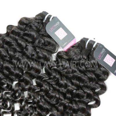 Superior Grade 1 Bundle Malaysian Italian Curly Virgin Human Hair Extensions