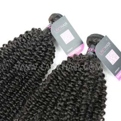 Superior Grade 1 bundle Malaysian Kinky Curly Virgin Human hair extensions