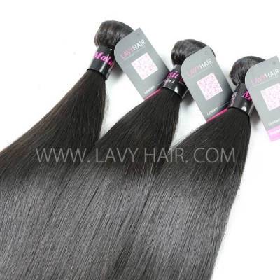 Superior Grade 1 bundle Malaysian Straight Virgin Human hair extensions