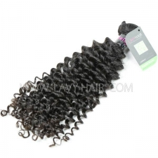 Regular Grade 1 Bundle Malaysian Deep Curly Virgin Human Hair Extensions