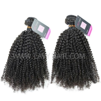 Superior Grade mix 3 or 4 bundles Burmese Kinky Curly Virgin Human hair extensions