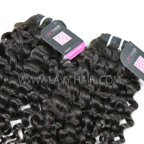 Superior Grade 1 bundle Burmese Italian curly Virgin Human Hair Extensions
