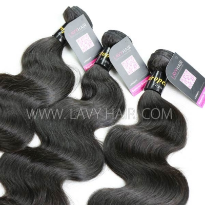 Superior Grade 1 bundle European body wave Virgin Human hair extensions
