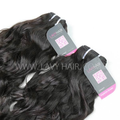 Superior Grade 1 bundle Mongolian Natural Wave Virgin Human Hair Extensions