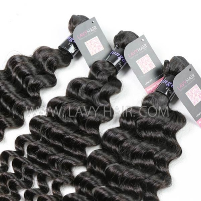 Superior Grade 1 Bundle Mongolian Deep Wave Virgin Human Hair Extensions