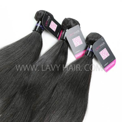 Superior Grade 1 bundle Mongolian Straight Virgin Human hair extensions