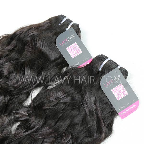 "Superior Grade mix 4 bundles with silk base closure 4*4"" Mongolian Natural Wave Virgin Human Hair Extensions"