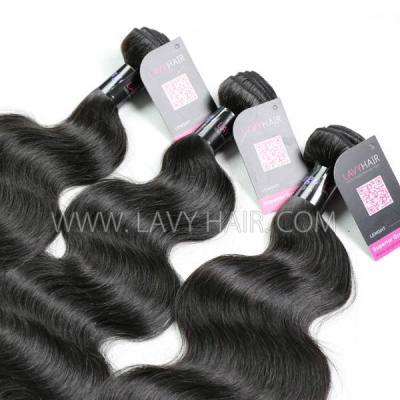 Superior Grade mix 4 bundles with lace closure Mongolian Body wave Virgin Human hair extensions