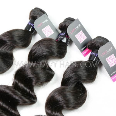 Superior Grade 1 bundle Mongolian Loose Wave Virgin Human Hair Extensions