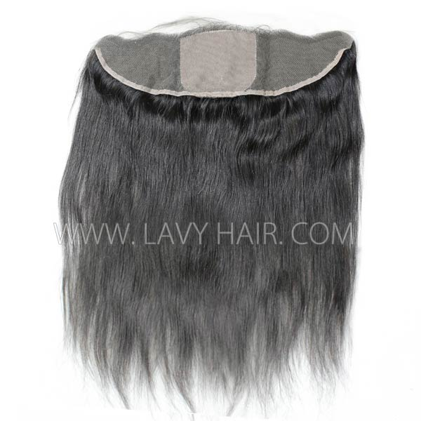 Silk Base Frontal (13*4) Straight Hair Human medium brown