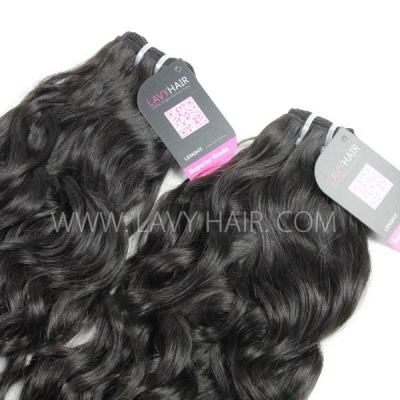 "Superior Grade mix 4 bundles with silk base closure 4*4"" Cambodian natural wave Virgin Human hair extensions"