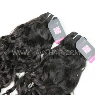 "Superior Grade mix 4 bundles with silk base closure 4*4"" Burmese natural wave Virgin Human hair extensions"