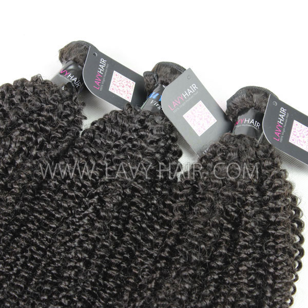 Superior Grade mix 4 bundles with lace closure Peruvian Kinky Curly Virgin Human hair extensions