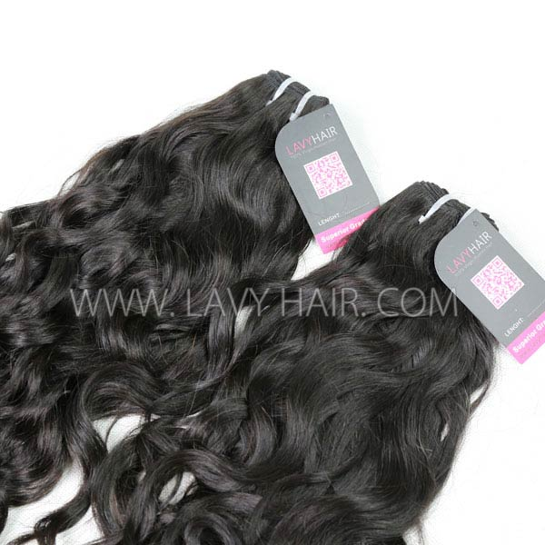 Superior Grade mix 4 bundles with lace closure Burmese natural wave Virgin Human hair extensions