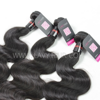 "Superior Grade mix 4 bundles with silk base closure 4*4"" Cambodian Body Wave Virgin Human hair extensions"