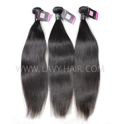 Superior Grade mix 3 or 4 bundles Brazilian Straight Virgin Human Hair Extensions