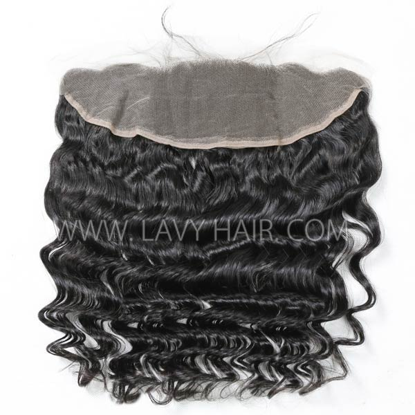 Superior Grade mix 3 bundles with 13*4 lace frontal closoure Cambodian loose wave Virgin Human hair extensions