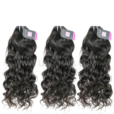 Superior Grade 3 bundles with 13*4 lace frontal closure Burmese Natural Wave Virgin Human Hair Extensions