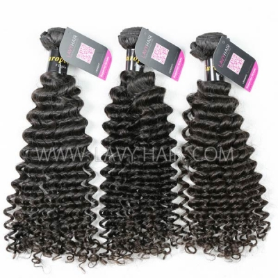 Superior Grade mix 3 bundles with 13*4 lace frontal closoure European Deep Curly Virgin Human Hair Extensions