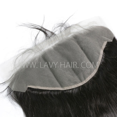 #1B Color Ear to Ear 13*6 Lace Frontal Straight Human hair Swiss lace