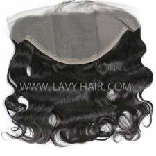 Ear to Ear 13*6 Lace Frontal Closure Body Wave Human hair medium brown Swiss lace