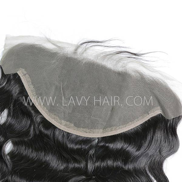 #1B Color Ear to Ear 13*6 Lace Frontal Body Wave Human hair Swiss lace