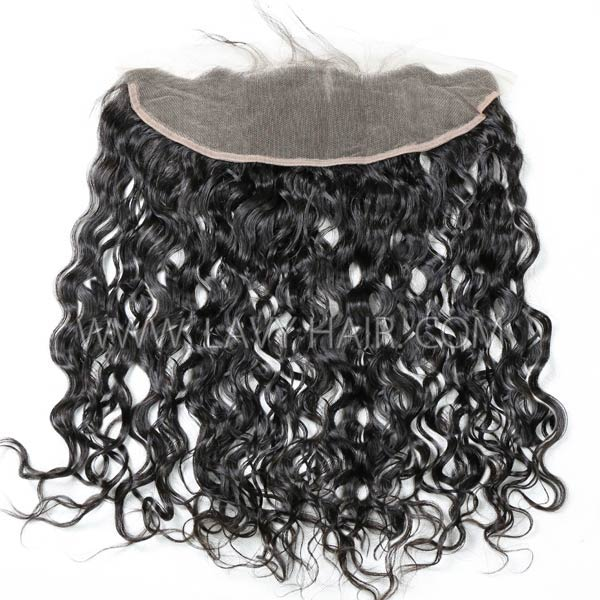 Superior Grade mix 3 bundles with 13*4 lace frontal closoure Mongolian Natural Wave Virgin Human Hair Extensions