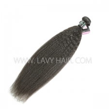 Superior Grade 1 bundle Brazilian Kinky Straight Virgin Human hair extensions