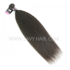 Superior Grade 1 bundle Malaysian Kinky Straight Virgin Human hair extensions