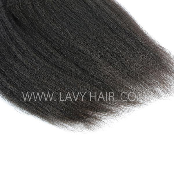 Superior Grade mix 4 bundles with lace closure Malaysian Kinky Straight Virgin Human hair extensions