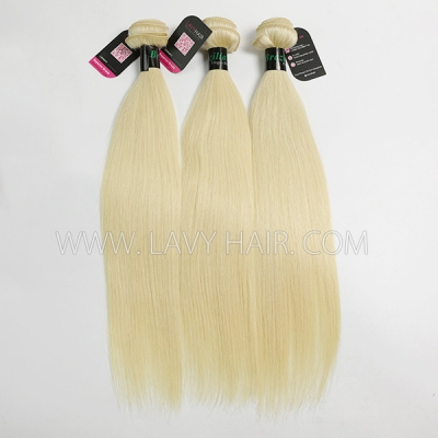 #613 Superior Grade mix 4 bundles with lace closure Brazilian Straight Virgin Human hair extensions