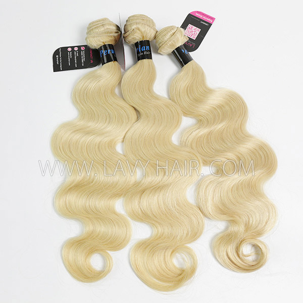 #613 Superior Grade mix 4 bundles with lace closure Peruvian Body wave Virgin Human hair extensions