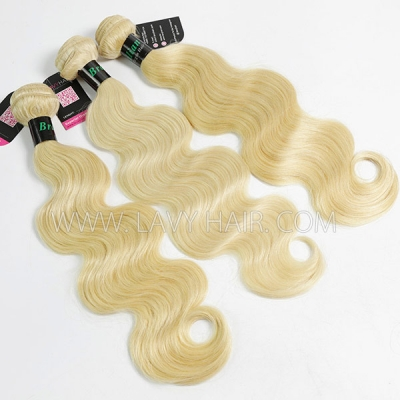 #613 Superior Grade mix 4 bundles with lace closure Brazilian Body wave Virgin Human hair extensions