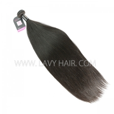Double Drawn Superior Grade 1 bundle Burmese Straight Virgin Human hair extensions