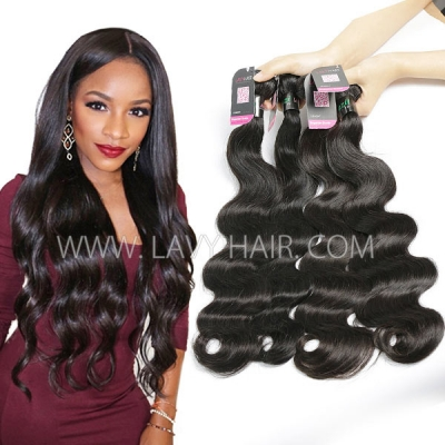 Superior Grade mix 3 or 4 bundles Brazilian body wave Virgin Human hair extensions